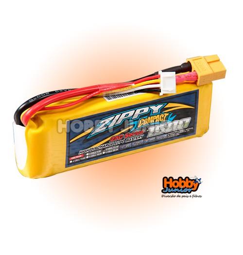 Bateria Lipo - 1500 mAh 3S 25C - Zippy Compact