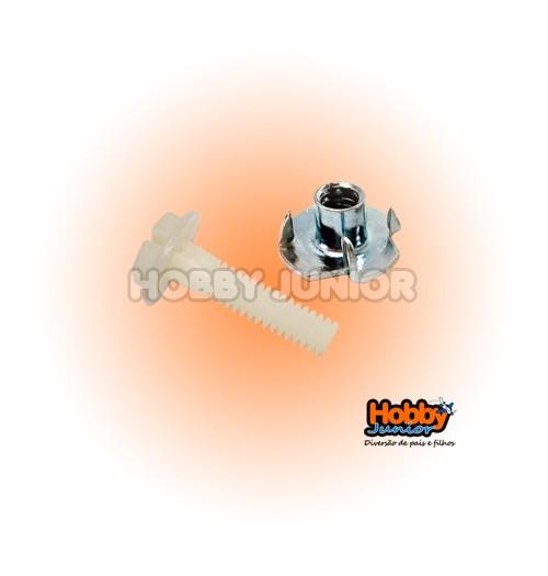 Parafuso Nylon  35x5mm com Porca Travante (unidade)