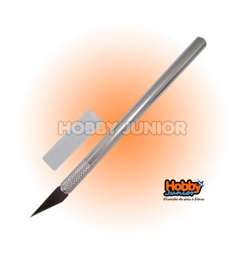 Estilete Bisturi p/ Corte Preciso c/ 5 lâminas de reposição.